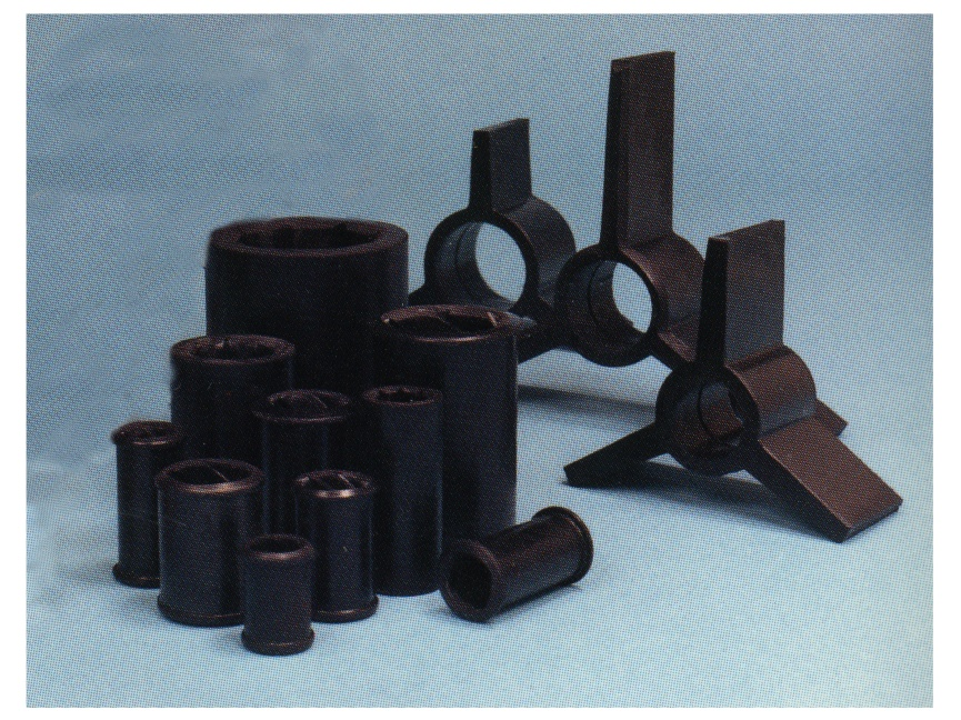 Rubber turbine parts